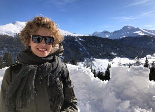 Står på en alpetop - Davos