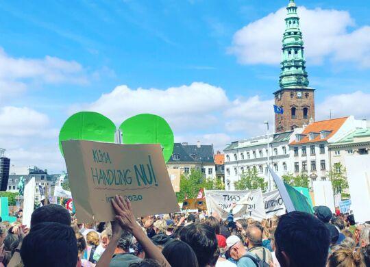 klimademo under valgkamp